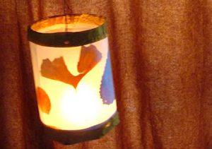 Márton-napi lámpás levelekkel