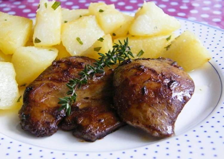 Sült libamáj saját zsírjában elkészítve